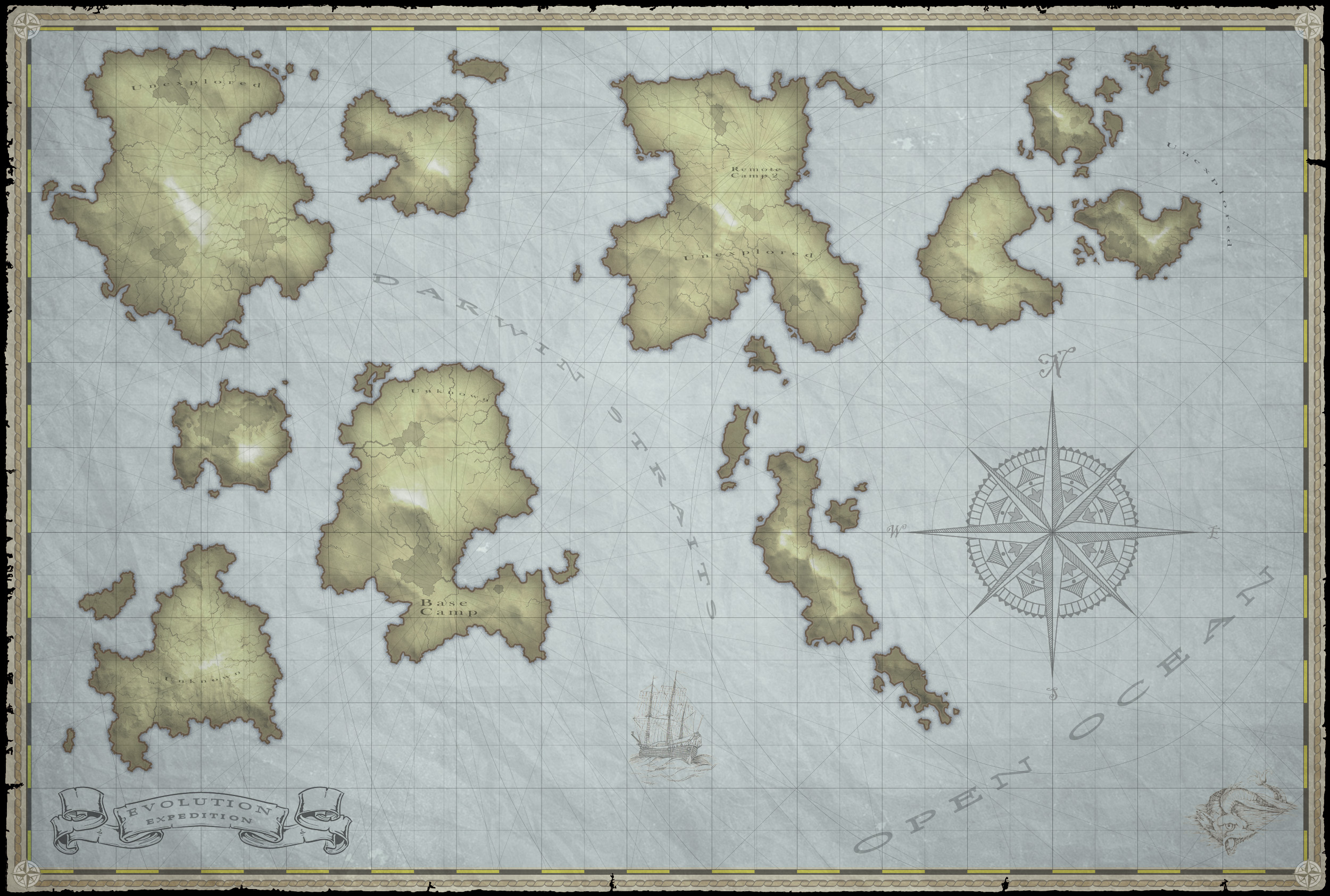 Old world map creation ibuild3d this was a project where i needed to generate a random but realistic old world style map i was looking for a somewhat procedural way to generate islands gumiabroncs Choice Image